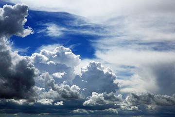 Aufgetürmte Haufenwolken