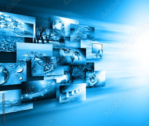 canvas print picture Television and internet production technology concept