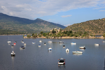 Burguillo Reservoir. Iruelas Valley, Avila, Spain