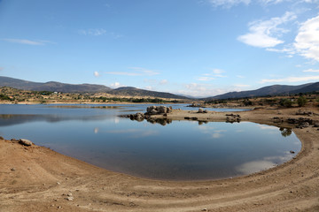 Burguillo Reservoir in Iruelas Valley Natural Reserve, Spain