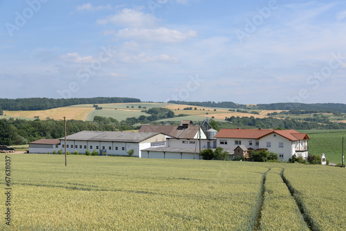 canvas print picture Bauernhof im Odenwald