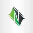 letter n stylyzed icon design