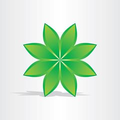 green flower abstract design