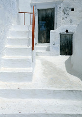 Traditional White House in Pyrgos