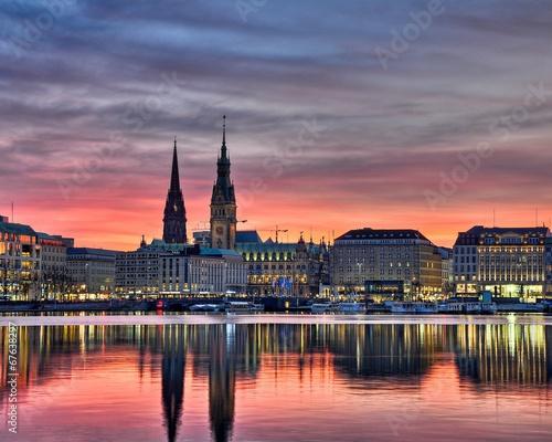 Leinwanddruck Bild Hamburg