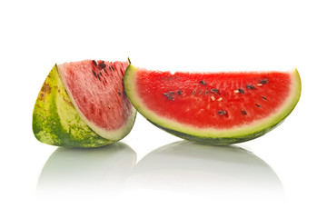 Watermelon Slice on White Background