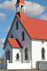 Wooden church of saints Peter and Paul in Puhoi built in 1881