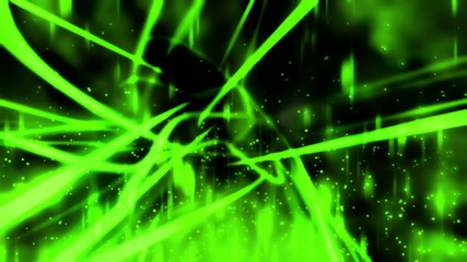 Green Abstract and Particles Looping Animated Background