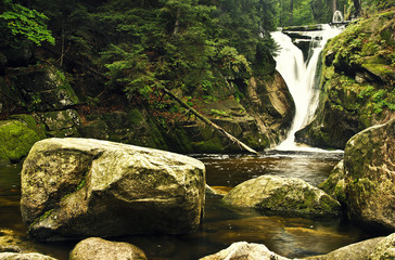 Szklarka waterfall in Szklarska Poręba