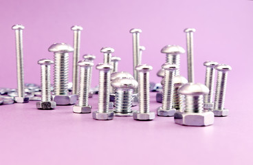 Silver Bolts and nuts