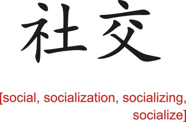 Chinese Sign for social, socialization, socializing, socialize