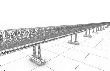 sketch bridge over the Ocean