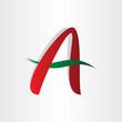 letter a abstract character design