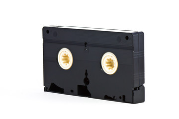 VHS video tape cassette on white background