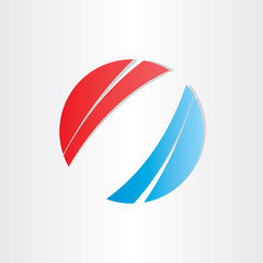 red blue abstract background circle