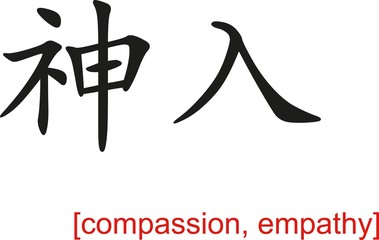 Chinese Sign for compassion, empathy