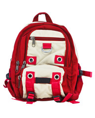 Backpacks on White Background