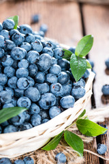 Portion of fresh harvested Blueberries