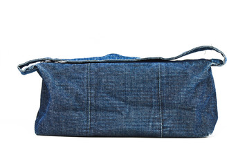 blue jeans bag on white background