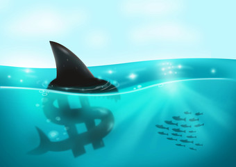 Loan Shark and Debt Money concept