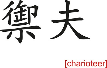 Chinese Sign for charioteer