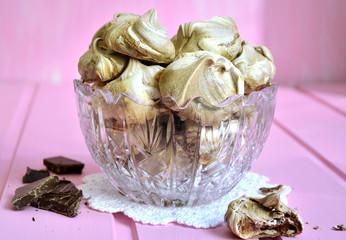 Chocolate meringues.