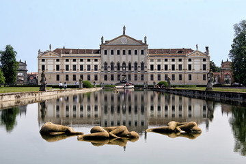 View of the italian national museum of Villa Pisani