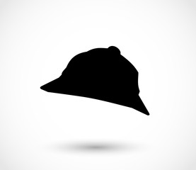 Detective hat icon vector