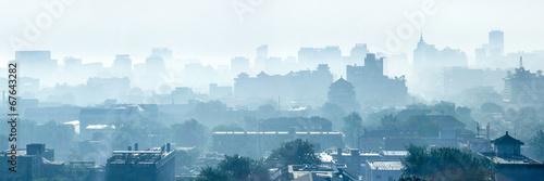 Deurstickers Beijing Beijing Smog