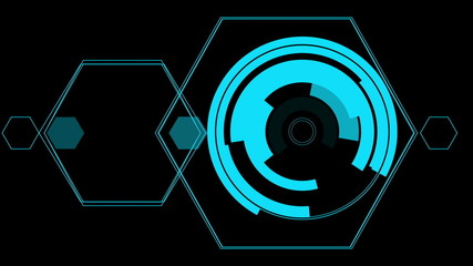 hologram graphics animation, abstract motion background