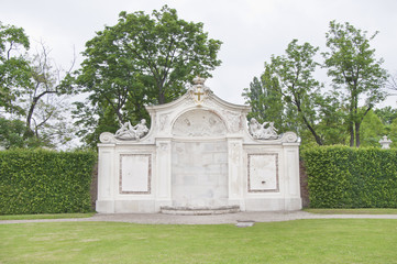 The monument in Belvedere Gardens, Vienna