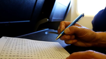 Wordsearch in flight
