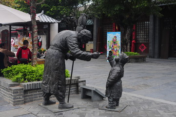 Statues in the Window of the World park, Shenzhen