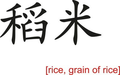 Chinese Sign for rice, grain of rice