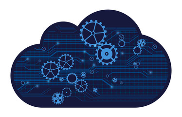 Cloud technology, vector