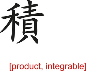 Chinese Sign for product, integrable