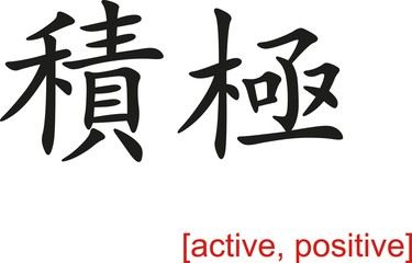 Chinese Sign for active, positive