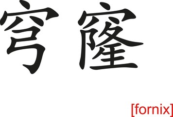 Chinese Sign for fornix