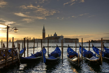 Sunrise from St. Mark's Square in Venice