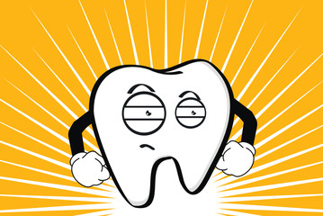molar dental cartoon wallpaper angry2