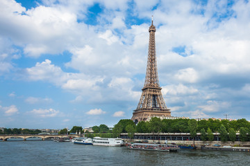 The Eiffel Tower and seine river in Paris, France