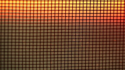 Grid at sunset light.