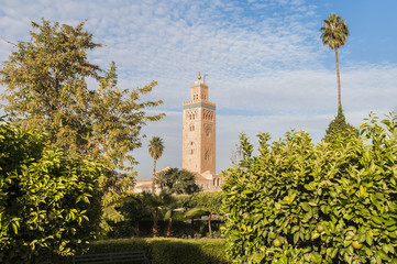 Koutoubia Mosque at Marrakech, Morocco