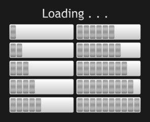 vector loading bar