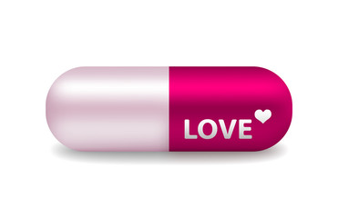 vector pill of love