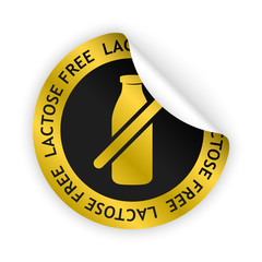 vector lactose free bent sticker