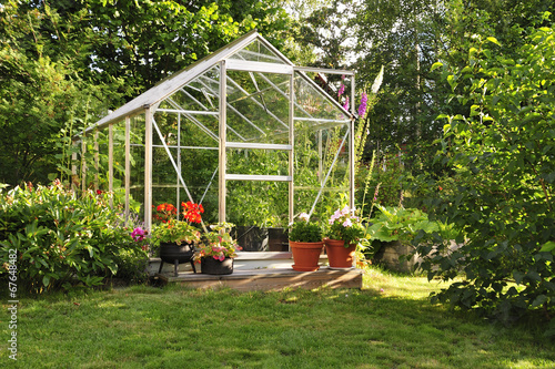 Foto op Canvas Tuin Green house