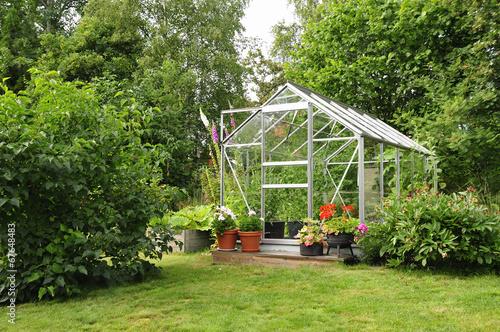 Fotobehang Tuin Garden greenhouse