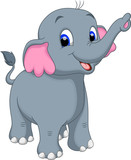 Cute elephant cartoo...