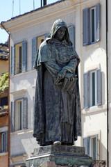 Giordano Bruno, Piazza campo dei Fiori, Roma.